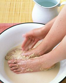 Cold feet? oats, herbs, spices and essential oils for a warming foot treatment.