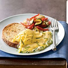 A tender omelet gains a salty boost from goat cheese without adding too much sodium. Serve with seedy whole-grain toast and fresh fruit...