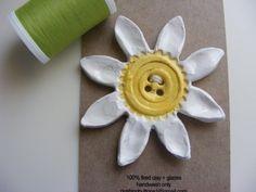 Daisy A Day Ceramic button