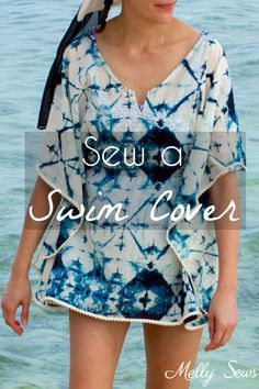 Sewing Top Make a beach cover up - Easy and cute DIY tutorial - sew a swimsuit cover - Melly Sews - Make a beach cover up - Easy and cute DIY tutorial - sew a swimsuit cover - Melly Sews Bathing Suit Cover Up, Swimsuit Cover Ups, Diy Clothing, Sewing Clothes, Sewing Shorts, Sewing Tutorials, Sewing Patterns, Sewing Projects, Clothes Patterns