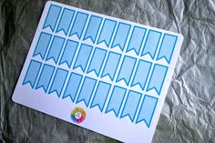 Blue Page Flag Labels - 27 Stickers