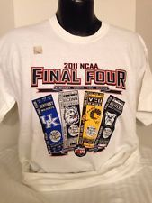2011 NCAA FINAL FOUR, KENTUCKY WILDCATS, MENS, LARGE, WHITE COLLECTIBLE TSHIRT,