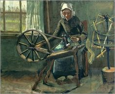 Vincent van Gogh - Bäuerin am Spinnrad