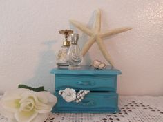 Image detail for -shabby chic valet jewelry box beach cottage french country home decor ...