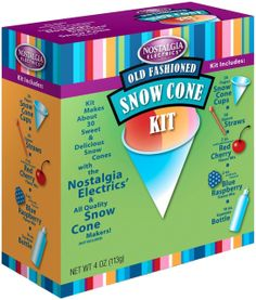 NOSTALGIA ELECTRICS Snow Cone Kit $13.95 OUT THE DOOR! PICK UP OR WE WILL SHIP FREE * TOP BRANDS * LOWEST PRICES CULINART MARKET www.shopculinart.com