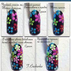 Spring Nail Designs - My Cool Nail Designs Nail Art Designs Videos, Diy Nail Designs, Nail Designs Spring, Simple Nail Designs, Spring Nails, Summer Nails, Karma Nails, Nail Art Modele, Tulip Nails