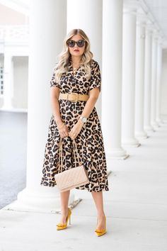 Leopard is Back ~ Suburban Faux-Pas Animal Print Fashion, Fashion Prints, Animal Prints, Work Fashion, Fashion Outfits, Fashion Clothes, Early Fall Outfits, Church Outfits, Leopard Dress