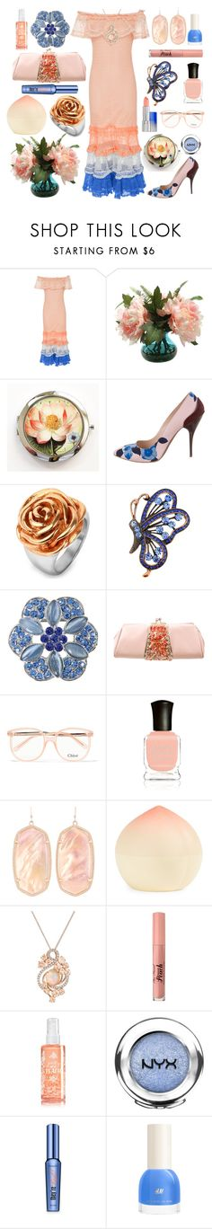 """Old-Fashioned Bouquet From The Backyard"" by yournightnurse ❤ liked on Polyvore featuring Jonathan Simkhai, Oscar de la Renta, West Coast Jewelry, Judith Leiber, Chloé, Deborah Lippmann, Kendra Scott, Tony Moly, LE VIAN and Too Faced Cosmetics"