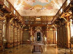 library at Melk Abbey in Austria