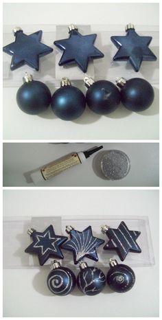 Ricicla le palline di natale rovinate o personalizza quelle semplici con colla,glitter e fantasia....