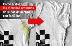 Cómo quitar las manchas amarillas de sudor de la ropa con facilidad