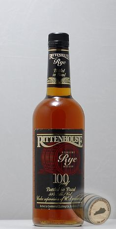 Rittenhouse Rye, Linfield, PA - Great 100 Proof Rye that has a deep aged color, dry minty rye nose with over ripe bannana, dried fruit and a truly firey finish.  Cut with water, the fruits and banannas come through more fiercely with lots of cedar, burnt sugar and a truly impressve kick.  I.....Heart!  As the ladies would say :)