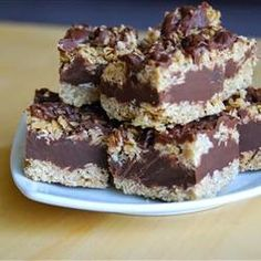 No Bake Chocolate Oat Bars « These bars can be frozen, just thaw 10 minutes before serving.