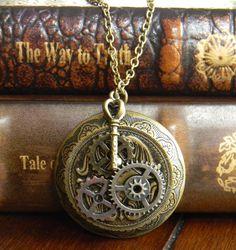 Solid Perfume Locket, Pendant, Necklace, Gift, Antique bronze. $30.00, via Etsy.