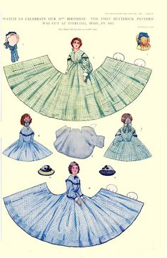 This set of wrap-around paper dolls comes from the Delineator magazine January of 1913.  (1 of 1)