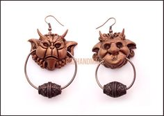 Labrynth door knocker earrings!