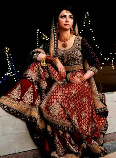 Pakistani bridal dress by karma