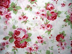 Cath Kidston Ikea Rosali Cotton Fabric Shabby Vintage Roses White 75cm x 150cm