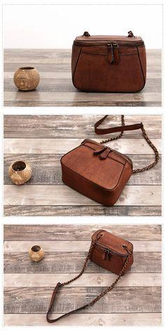 Full Grain Handmade Genuine Leather Messenger Cross body Women Handbag F06 66474d96f6