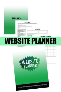 Website Planner: Plan and Organize Your Website and Content Plan your content marketing and monetize your website - Buy Now  planner, workbook, online marketing #website Content Marketing, Online Marketing, Money Making Websites, Online Web Design, Website Optimization, Planning And Organizing, Business Website, Business Tips, Blogging For Beginners