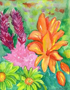 on Pinterest   Tropical paintings  Tropical and Tropical flowers