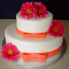 bridal shower cake..love this color combo!
