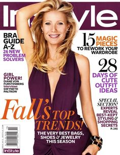 Gwyneth Paltrow Covers InStyle US in a DVF Jumpsuit - Coco's Tea Party