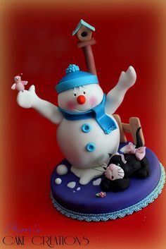 christmas topper - by PamsCakeCreations @ CakesDecor.com - cake decorating website
