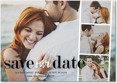 Modern Photo Strip - Save the Date Magnets - Magnolia Press - Blaze - Orange : Front