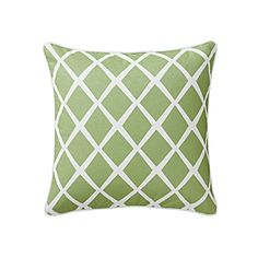 Obsessed with these lattice pillow.  Multiple color options, also lumbar style. Leaf Diamond Pillow Cover | Serena & Lily