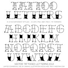 Vector Tattooed Lettering {CU}