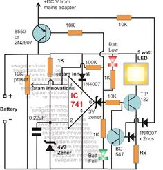 Smart Emergency Lamp Circuit with Maximum Features | Homemade Circuit Projects