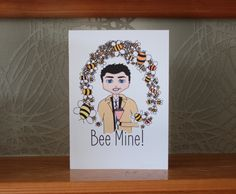 Castiel from CW's Supernatural greeting card on Etsy. :)