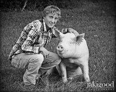senior with pig! love it! but with my show cattle! <3