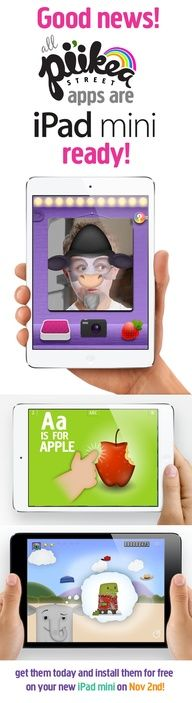 Yes, all our Apps are compatible with the iPad mini! #piikeastreet #kids #apps