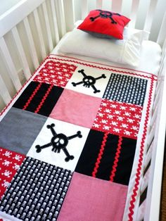 Skull Patch Quit for crib by AlphabetMonkey