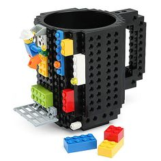 Build-On Lego Mug: Morning meetings suck. If you're in a climate where 9 am meetings are the norm, you're going to need more than caffeine to stay awake. Enter the Build-On Brick Mug. It's a coffee mug and construction set all in one! ...Read More @ http://greateststuffonearth.com/build-on-lego-mug/