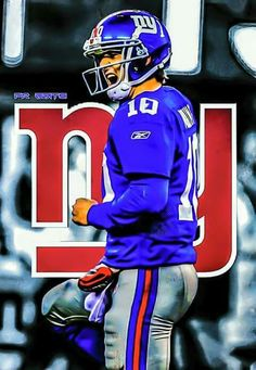 #nyg Eli Manning Football Fever, New York Giants Football, My Giants, Steelers Football, Football Fans, Football Players, Sports Art, Sports Images, Sports Teams