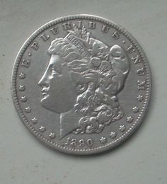 #coins 1890-O $1 Morgan Silver Dollar shines meticulously stored estate coin please retweet