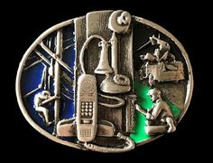 Telephone Operator Technician Lineman Belt Buckle