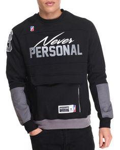 Find Never Personal Crewneck Sweatshirt Men's Sweatshirts & Sweaters from Post Game & more at DrJays Polo T Shirts, Boys Shirts, Hoodie Outfit, Hoodie Jacket, Khaki Suits, Mens Sweatshirts, Crew Neck Sweatshirt, Stylish Men, Men Sweater