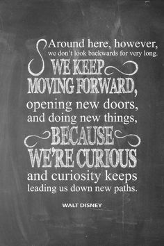 Walt Disney Quote Keep Moving Forward by McLeodTypography on Etsy
