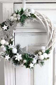 68 Amazing Holiday Wreaths for your Front Door - Happily Ever After, Etc. - Diana - 68 Amazing Holiday Wreaths for your Front Door - Happily Ever After, Etc. 68 Amazing Holiday Wreaths for your Front Door - Happily Ever After, Etc. Christmas Wreaths For Front Door, Holiday Wreaths, Door Wreaths, Holiday Crafts, Christmas Decorations, Christmas Ornaments, Holiday Decor, Winter Wreaths, Yarn Wreaths