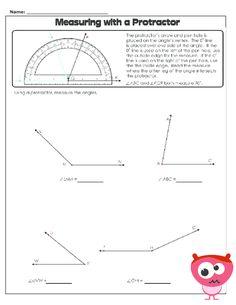 math worksheet : using a protractor worksheet  protractor free worksheets and  : Protractor Worksheet