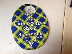 Vintage Scottish Tartan Luggage Label Paper Ephemera by MintParty, £2.50