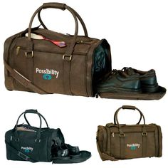 The Norwood Kodiak Duffel is a perfect item for overnight or weekend trip. Made of distressed leatherette, this duffel bag with classic duffel look features double zipper access to roomy main compartment,. Advertising Slogans, Pms Colour, Quality Logo Products, Luggage Rack, Logo Color, Custom Bags, Distressed Leather, Leather Material, Duffel Bag