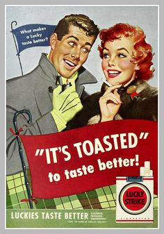 1954 lucky strike ad