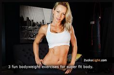 Found her again! We missed Zuzana! Check out her new fitness site ZuzkaLight.com