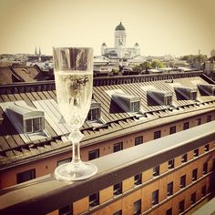 Helsinki: A glass of champagne and a beautiful view? I guess I can handle that.
