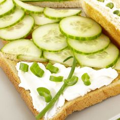 This cucumber cream cheese sandwich is a nice idea for a luncheon.  Simple and generally well received.. Cucumber Cream Cheese Sandwich   Recipe from Grandmothers Kitchen.